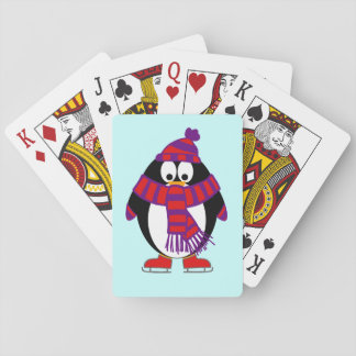 Snow Penguin Playing Cards