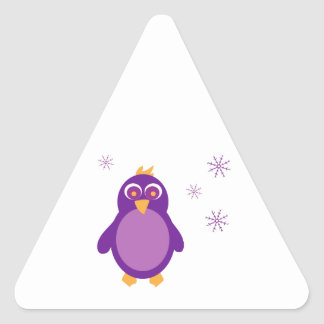 Snow Penguin Triangle Sticker