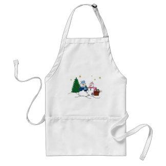 Snow people apron