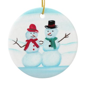 Snow People Christmas Ornaments ornament