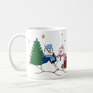 Snow people coffee mug