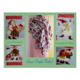 Snow People Frolic Poster