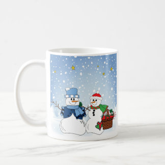 Snow People in the Snow Mugs
