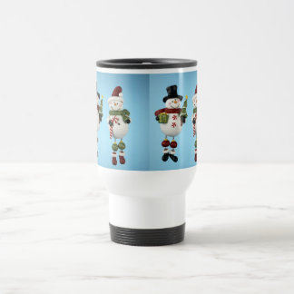 Snow People Travel Mug