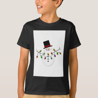 Snow Person with Lights T-Shirt