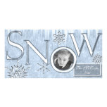 Snow Personalized Photo Card