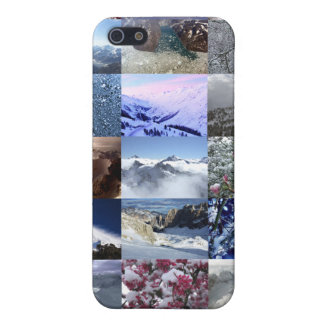 Snow Photo Collage Cover For iPhone SE/5/5s