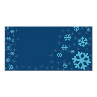 snow custom photo card