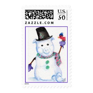 Snow Pig Postage