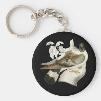 Snow Pigeon Keychain
