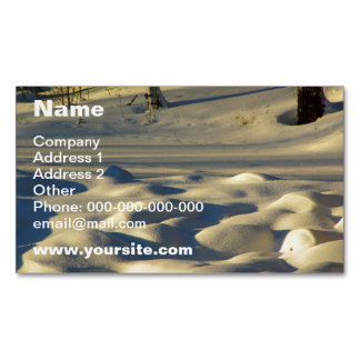 Snow Pillows Magnetic Business Card