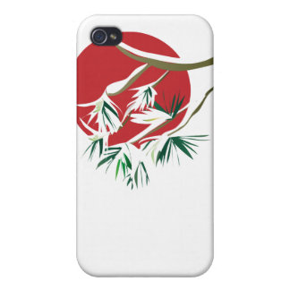 Snow Pine Red iPhone 4 Covers
