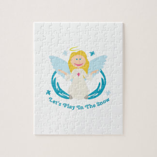 Snow Play Angel Jigsaw Puzzle