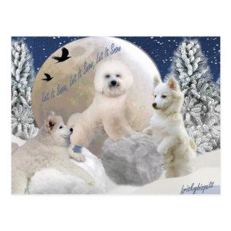 Snow Play Postcard