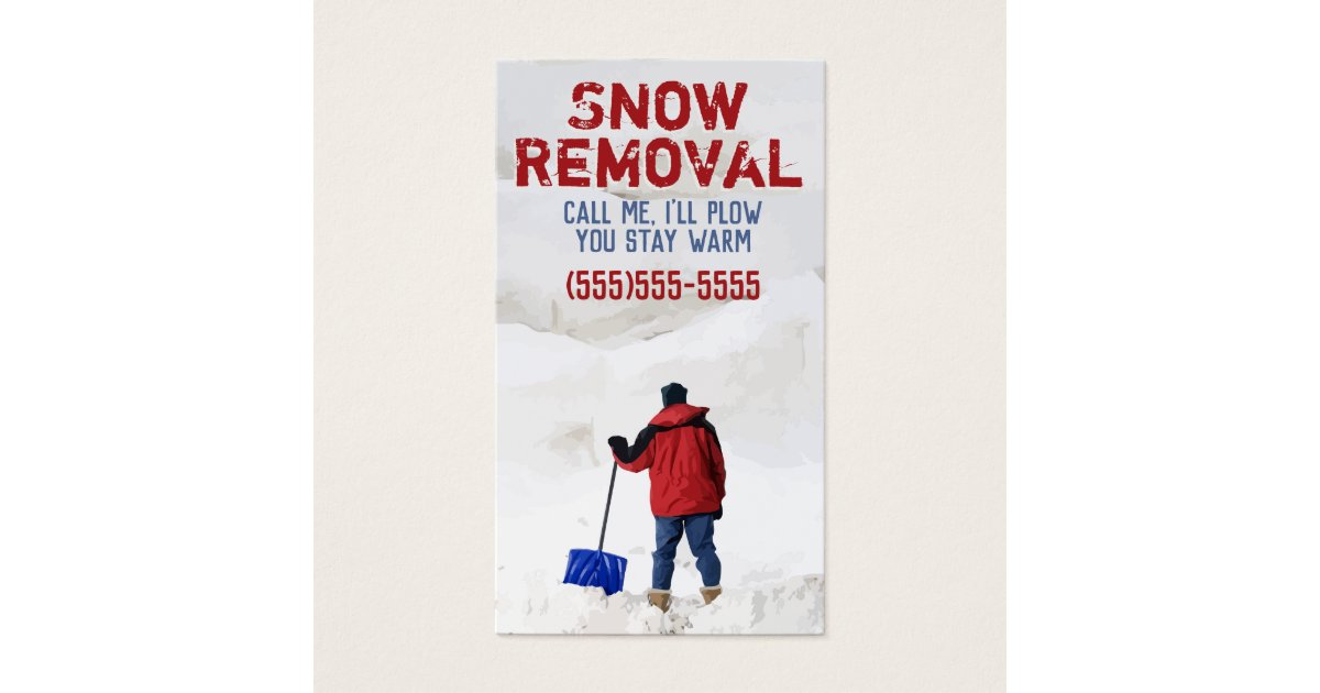 Snow Plow Advertising.Snow Removal Business Business Card | Zazzle.com