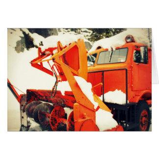 Snow Plow Blank Card
