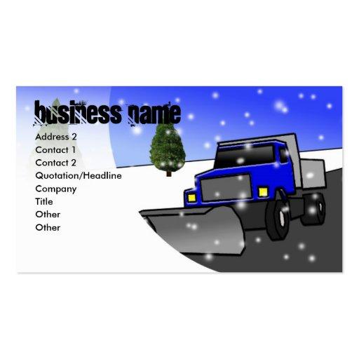 Snow plow business card templates page2 bizcardstudio snow plow blue business name address 2 conta colourmoves Images