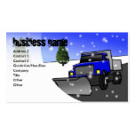 snow-plow-blue, Business Name, Address 2, Conta... Business Card Template