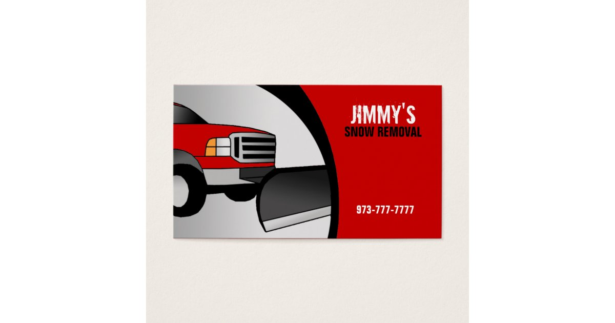 Snow Plow Business Cards | Zazzle.com