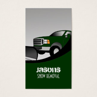 Snow plow Business Cards