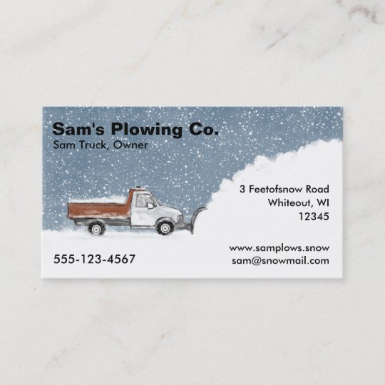 Snow plow business pickup truck plowing business card zazzle snow plow business pickup truck plowing business card colourmoves