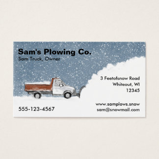 Snow Plow Business - Pickup Truck Plowing Business Card