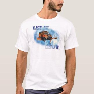 Snow Plow Design T-Shirt
