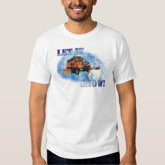 Snow Plow Design Tee Shirt