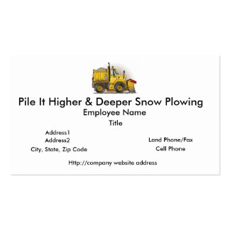 Snow Plow Truck Business Cards