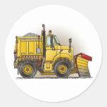 Snow Plow Truck Kids Sticker