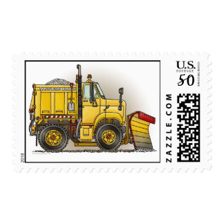 Snow Plow Truck Postage Stamp