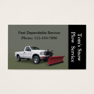 Snow Plow Truck Service Business Card