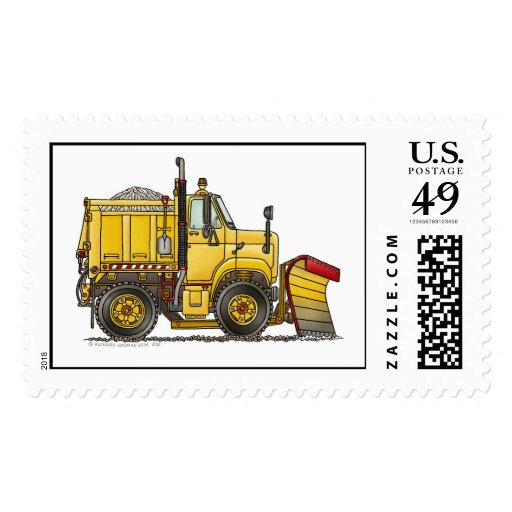 Snow Plow Truck Stamps