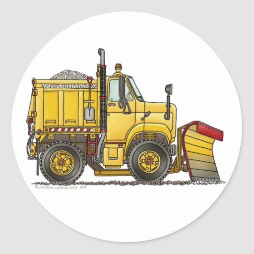 Snow Plow Truck Stickers