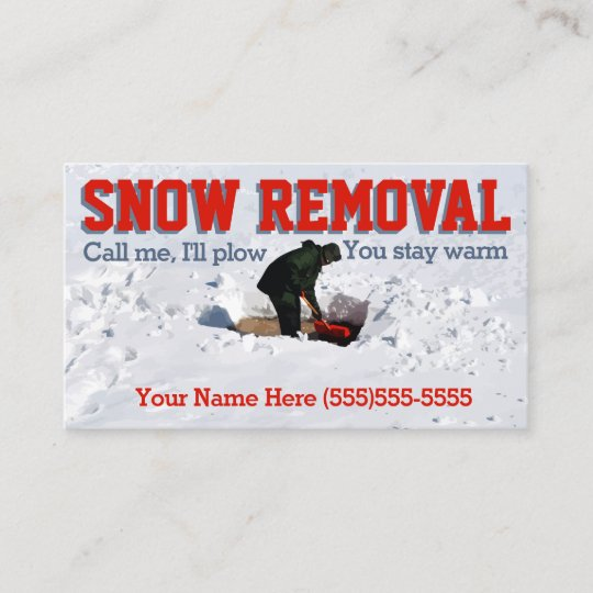 Snow Plowing Advertisingow Removal Business Business Card