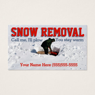 Snow Plowing Advertising.Snow Removal Business Business Card