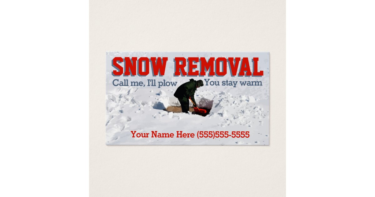 Snow Plowing Advertising.Snow Removal Business Business Card ...