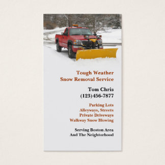 Snow Plowing Business Card