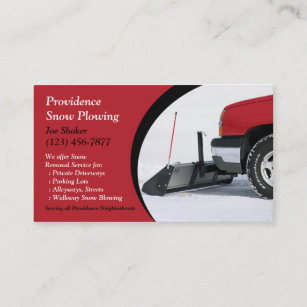 Snow plowing business cards templates zazzle snow plowing business card colourmoves