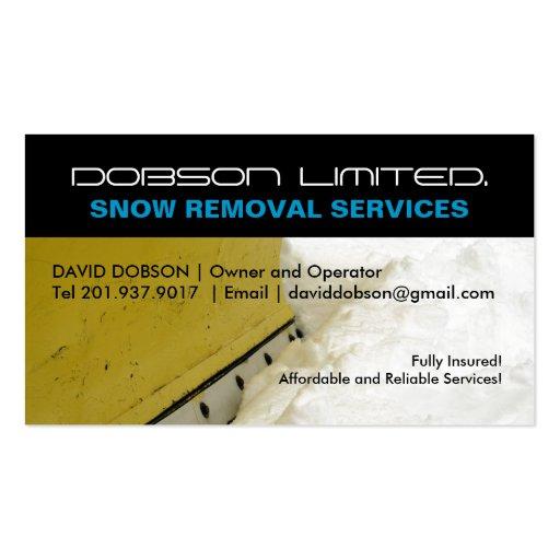 Snow plow business card templates bizcardstudio snow plowing business card colourmoves Images
