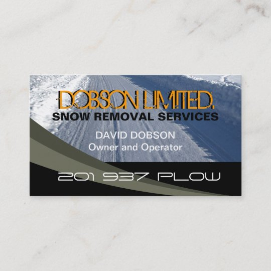 Snow plowing business card zazzle snow plowing business card colourmoves