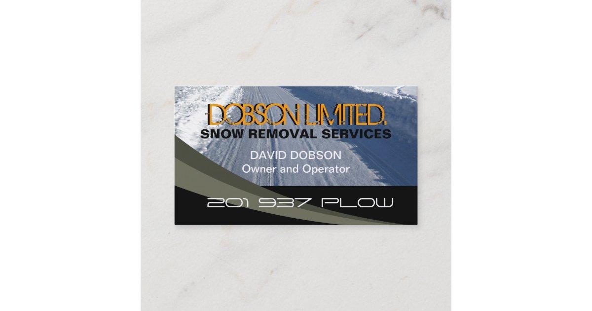 Snow Plowing Business Card | Zazzle.com