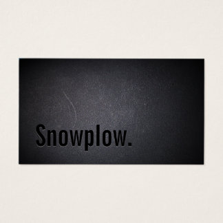 Snow Plowing Professional Black Minimalist Business Card