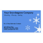 Snow Plowing, Removal Business Card (HORIZONTAL BL