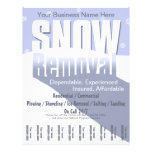 """Snow Plowing Service. Removal Business. 8.5"""" X 11"""" Flyer"""