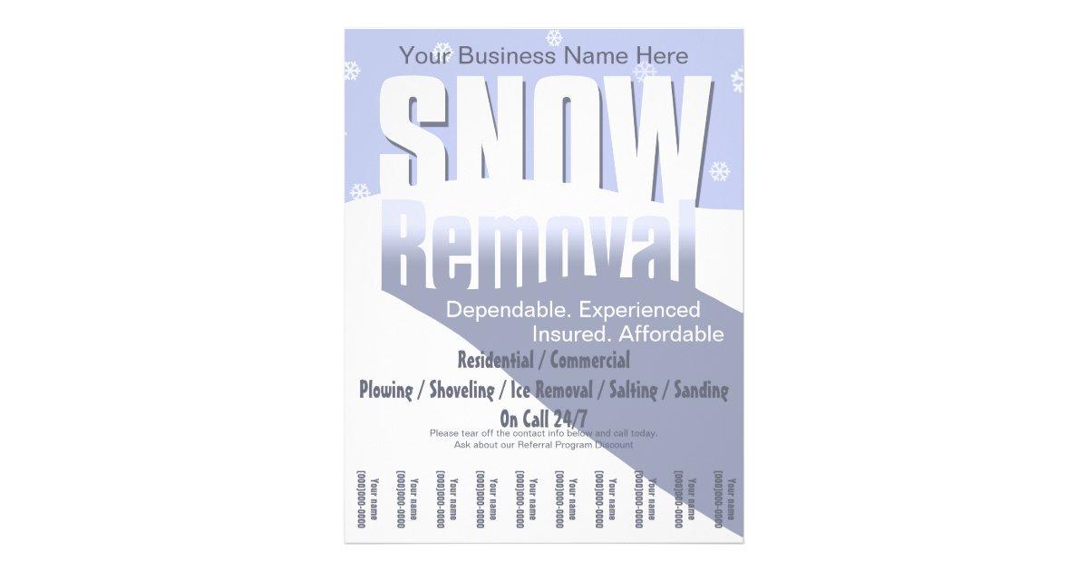Snow Shoveling Flyers & Programs | Zazzle
