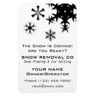 Snow Plowing, Shoveling and Removal Company Magnet