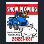 """Snow Plowing. Snow Removal Business Service. Flyer<br><div class=""""desc"""">Here is a great way to earn extra money this winter. Start your own snow plowing service. This charming, eye catching 4x5 flyer is the perfect way to get customers. Hang/leave it in every deli, bakery, church, library etc that you can. It will definitely set you apart from every other...</div>"""