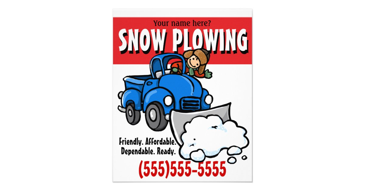 Snow Plowing. Snow Removal Business Service. Flyer | Zazzle.com