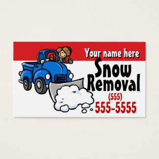 Snow Plowing.Snow Removal Promotional card